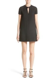 Valentino Wool & Silk Crepe Shift Dress