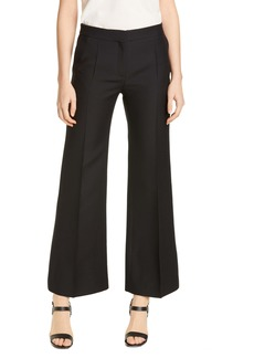 Valentino Wool & Silk Straight Leg Ankle Pants