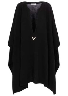 Valentino wool and cashmere poncho