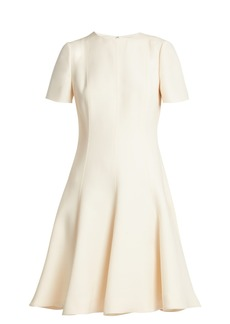 Valentino Wool and silk-blend dress