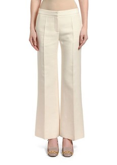 Valentino Wool-Silk Wide-Leg Pants