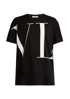 Valentino Wraparound logo-print cotton T-shirt