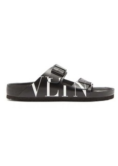 Valentino X Birkenstock Arizona logo-print leather slides