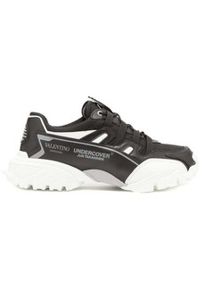 Valentino X Undercover Climbers leather and mesh trainers