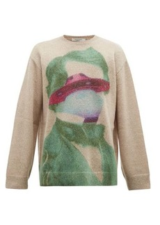 Valentino X Undercover intarsia mohair-blend sweater