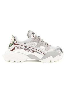 Valentino X Undercover metallic trainers