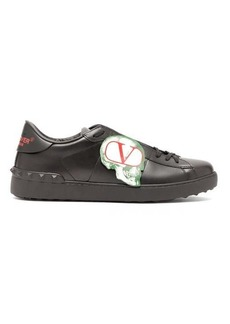 Valentino X Undercover skull-appliqué leather trainers
