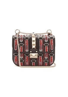 Valentino X Zandra Rhodes Lock small leather shoulder bag