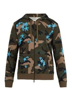 Valentino X Zandra Rhodes zip-up cotton-blend sweatshirt
