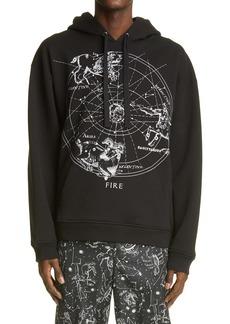 Valentino Zodiac Map Cotton Hoodie
