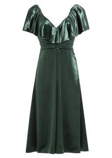 Valentino Velvet Dress with Silk