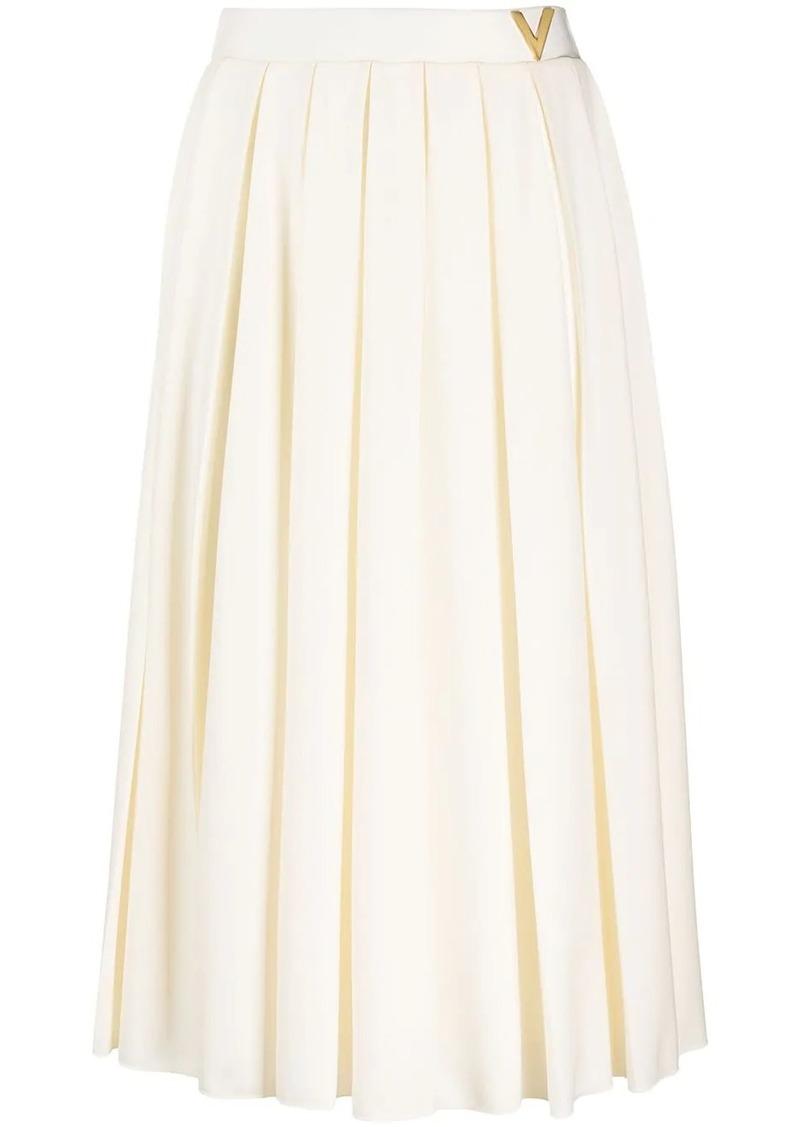 Valentino VGOLD pleated midi skirt