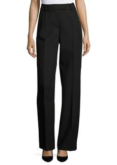 Virgin Wool High-Waist Straight-Leg Pants