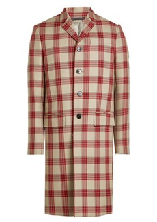 Valentino Virgin Wool Plaid Coat