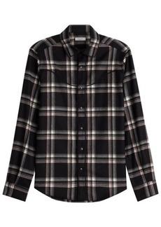 Valentino Virgin Wool Plaid Shirt