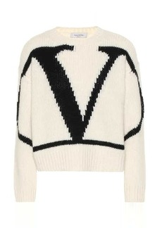 Valentino VLogo alpaca and wool blend sweater