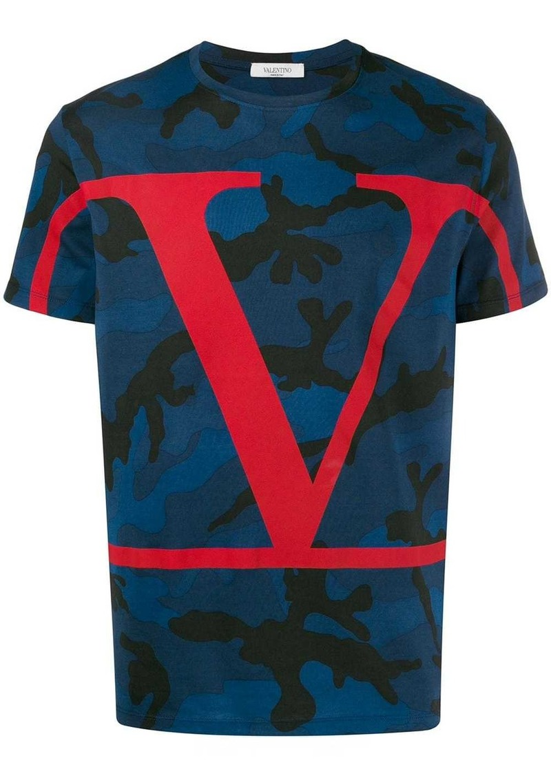Valentino VLOGO camouflage T-shirt