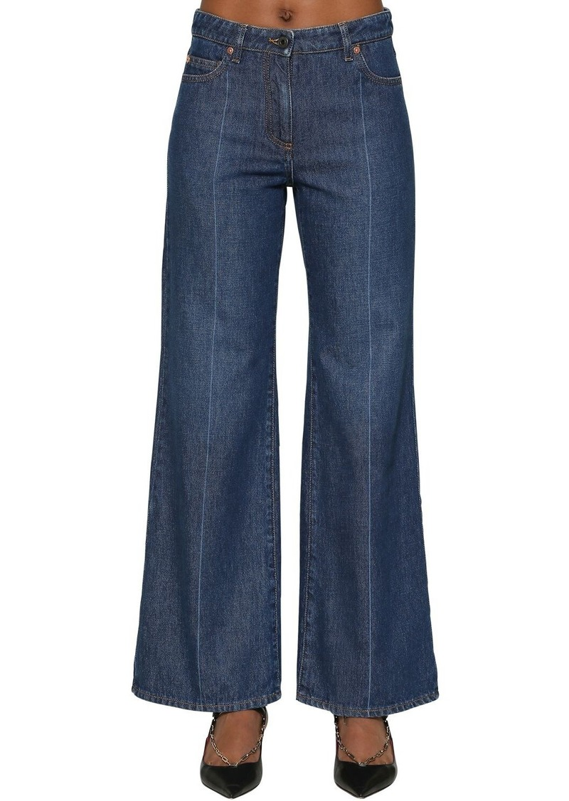 Valentino Vlogo Cotton Denim Jeans