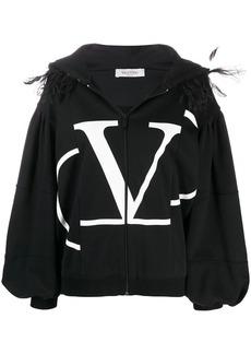 Valentino VLOGO feather jacket