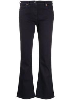 Valentino VLOGO flared cropped denim jeans