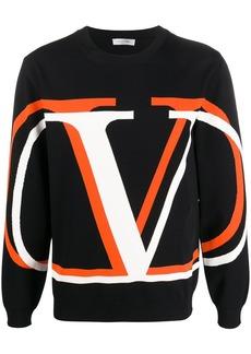 Valentino VLOGO intarsia-knit jumper
