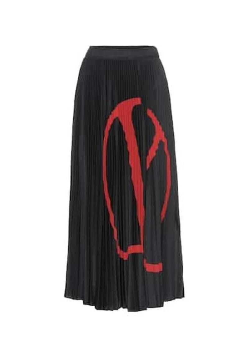 Valentino VLOGO jersey midi skirt