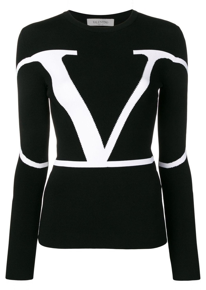 Valentino VLOGO knitted top