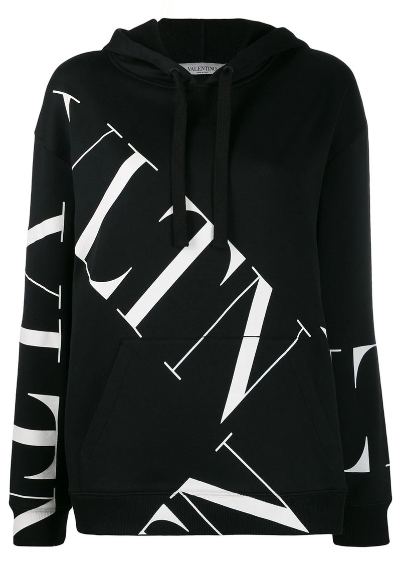 Valentino VLOGO pattern hooded sweatshirt