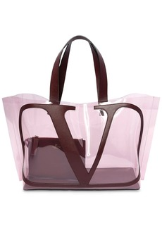 Valentino Vlogo Polymeric & Leather Tote Bag