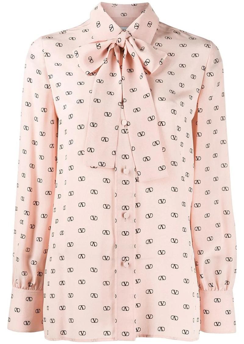 Valentino VLOGO print blouse