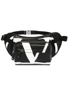 Valentino Vlogo Print Leather Belt Bag