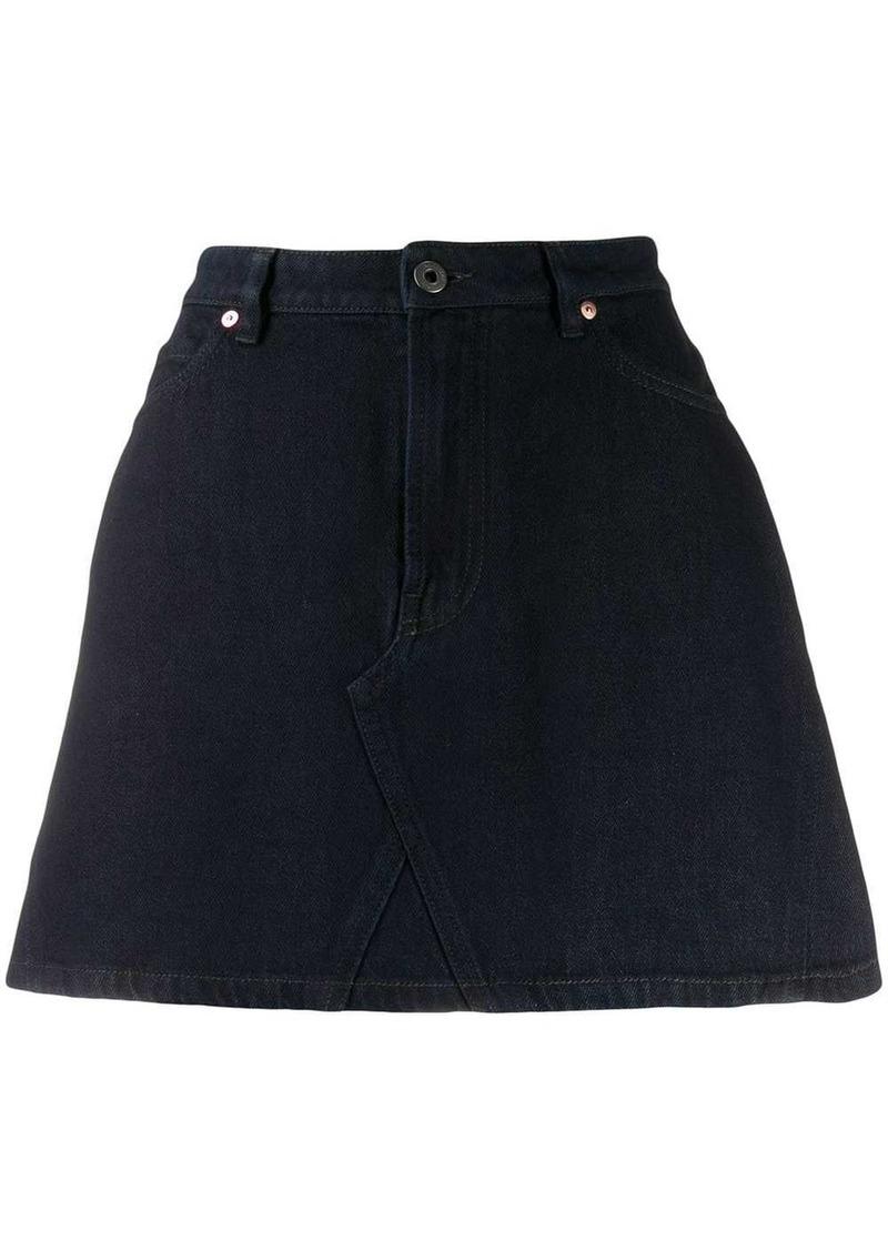 Valentino VLOGO printed denim skirt