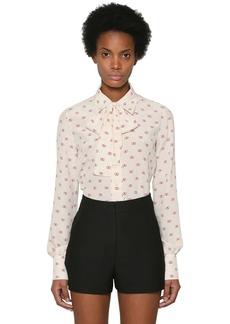 Valentino Vlogo Silk Crepe De Chine Shirt