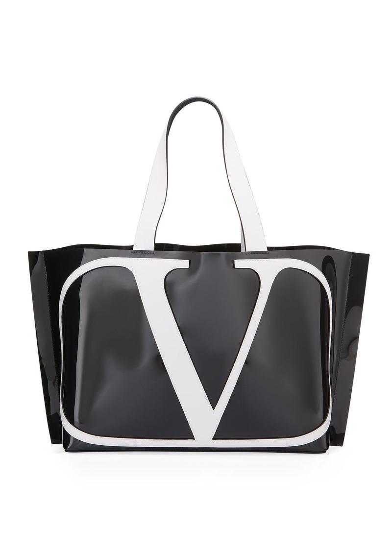 Valentino Vlogo Small Poly Tote Bag