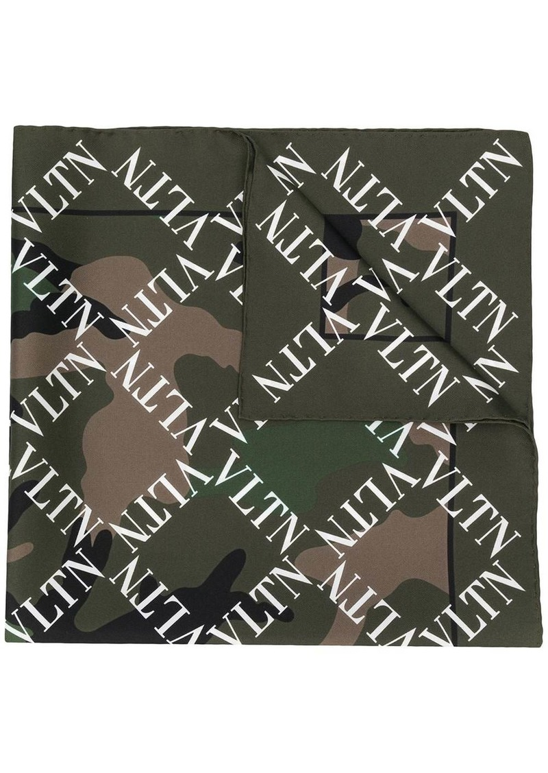 Valentino VLTN camouflage print scarf