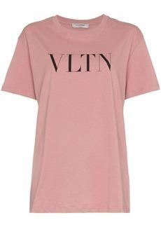 Valentino text print crew neck t-shirt