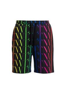 Valentino VLTN Fluorescent Logo Drawstring Shorts