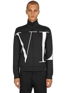 Valentino Vltn Logo Cotton Blend Track Jacket
