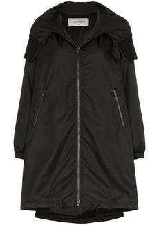 Valentino VLTN logo hooded coat
