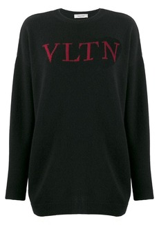 Valentino VLTN logo knitted sweater