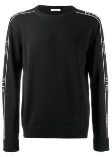 Valentino VLTN logo stripe jumper