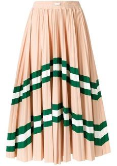 Valentino VLTN patterned pleated midi skirt