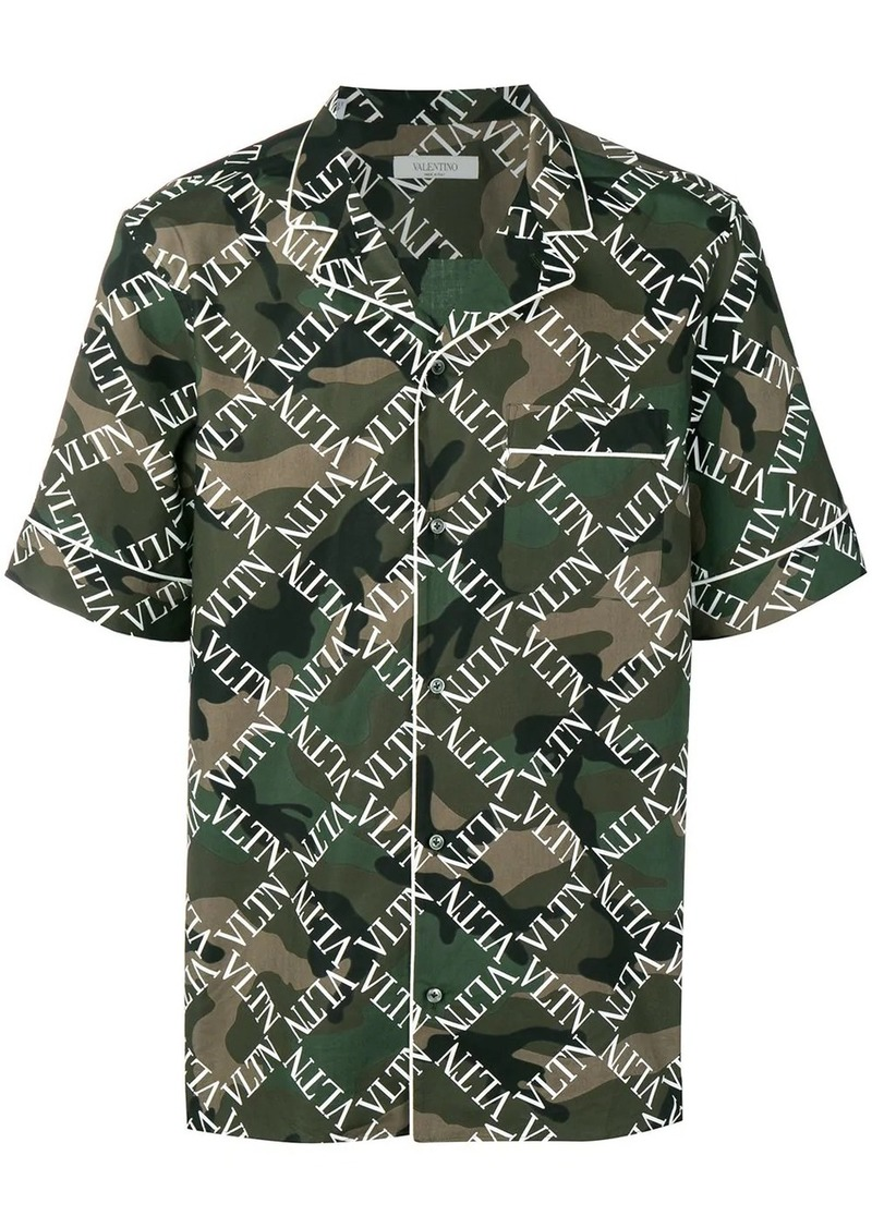 Valentino VLTN piped camouflage shirt