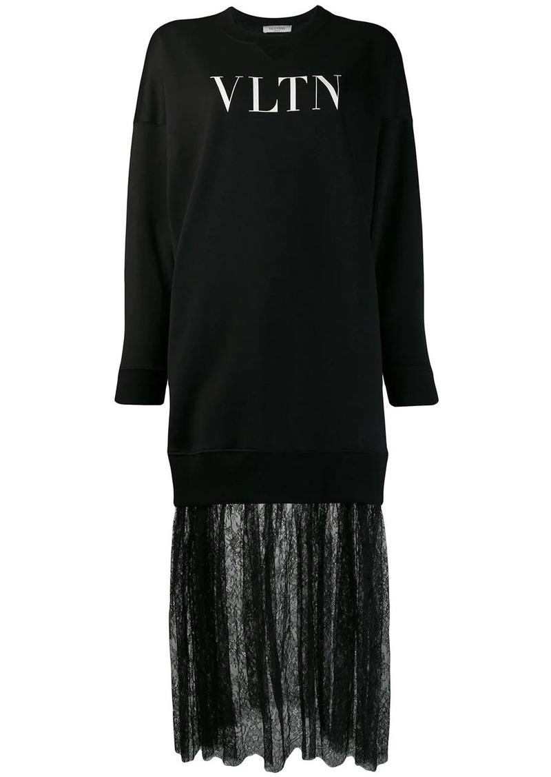 Valentino VLTN print sweatshirt dress