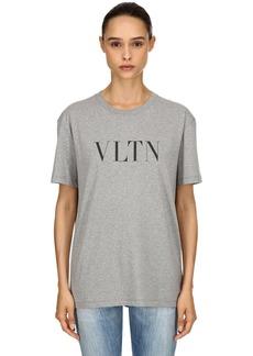 Valentino Vltn Printed Cotton Jersey T-shirt