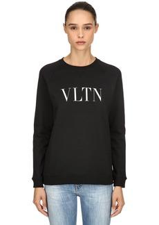 Valentino Vltn Printed Jersey Sweatshirt