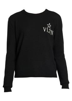 Valentino VLTN Virgin Wool & Cashmere Crewneck Sweater
