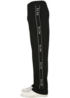 Valentino Vltn Viscose Blend Knit Track Pants