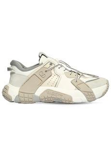 Valentino Vltn Wod Mesh & Suede Sneakers