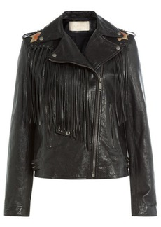 Valentino Volcano Leather Jacket